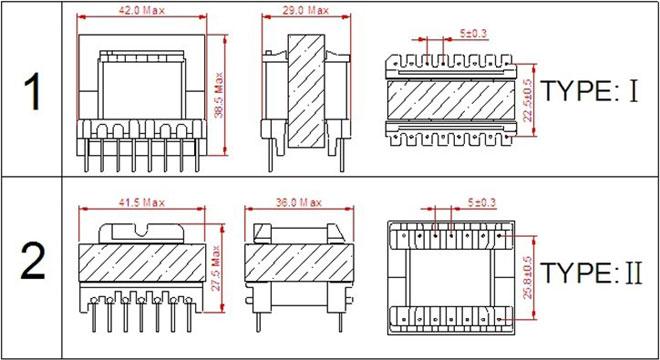 厂家直销ee40高频变压器 |电子变压器 |电源开关变压器|质量可靠