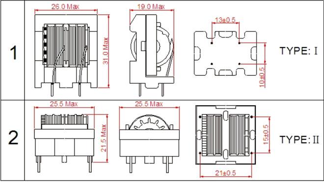 et24滤波器立式,et24共模电感