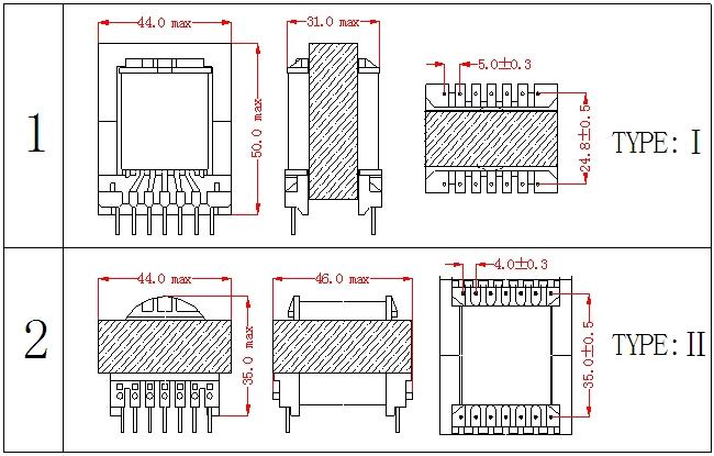 首页 产品中心 高频变压器/开关电源变压器 ec型高频变压器系列 ec42