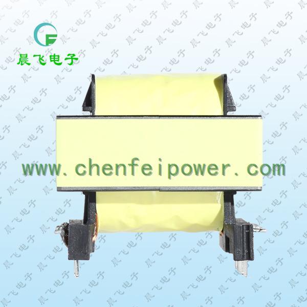 一.EE55高频变压器尺寸外观图(单位:mm)   *: 以上为公司常用骨架样式,其它款式暂未列入其中,欢迎咨询。骨架装配EE55磁芯有EE5515EE5521EE5525三种类型。本公司可按客户要求定制各种规格EE55高频变压器。 二.EE55高频变压器性能 1.工作频率:20kHz-500KHz 2.输出功率:80 to 2000 W 3.